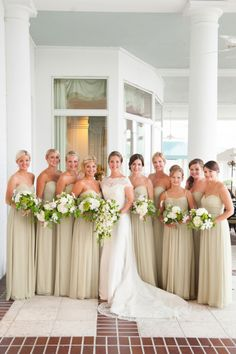 Full bridal party: http://www.stylemepretty.com/florida-weddings/jacksonville-fl/2013/11/14/jacksonville-wedding-at-timuquana-country-club-from-agnes-lopez/ | Photography: Agnes Lopez - http://www.agneslopez.com/