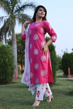 Cotton Anarkali, Cotton Salwar Kameez, Kurti, Other Outfits, Cool Outfits, Kurta With Pants, Pakistani Designers, Palazzo Pants, Suits For Women