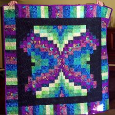 """Margie Etchberger shared a photo this week of a quilt she made.  She said, """"used the 2 in strip die """"Could not have made this without it, I love my Go Big!"""" Thanks for sharing this wonderful quilt Margie!"""
