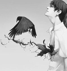 #animedrawing #animeboy #anime #died #killer #creepy#blood #bird #zankyounoterror #boys #darknes #horror #drawing #draw #art#sad #blackandwhite #black #monster #alone #human #hurt #pain #scary#likeforlike