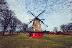 Check out Copenhagen windmill by AlinLyre on Creative Market