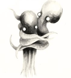 Hugging Octopus Illustration 8 x 10 by octopusthings on Etsy, $16.00