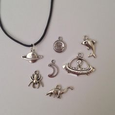 Chokers / necklaces available at Shop Alien with these awesome little additions including aliens, moons, planets, spiders and many more  (instagram: shopalien) // photo from Shop Alien // use the code GEORGIAERB to get some money off Shop Alien, a present