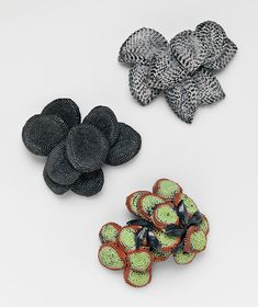 Julie Blyfield  Brooches: Scorched, Blackened, Ashen Leaf 2009  Oxidised sterling silver, enamel paint