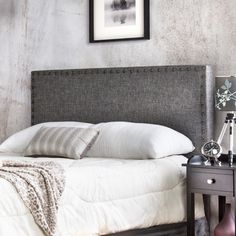 Cabecero tapizado de cama para hogar y hoteles, mod. Turín