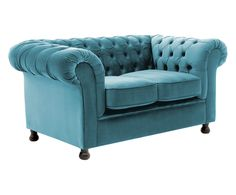 2-Sitzer-Sofa Chesterfield, hellblau, B 152 cm | Westwing Home & Living