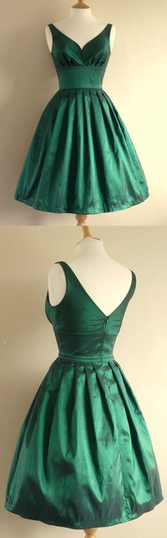 green v neck short prom dresses @veenrol