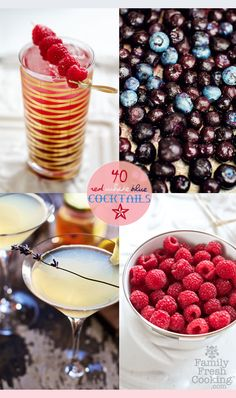 40 Festive! Red + White + Blue Cocktail Recipes by @Marla Landreth Meridith