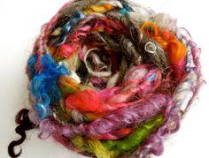 Candy Shoppe Handspun Art Yarn Tailspun by RainbowTwistShop