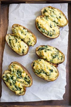 These spinach artichoke twice baked potatoes are so creamy and packed with flavor that you'll never believe they're dairy free, vegan, paleo and Whole30!