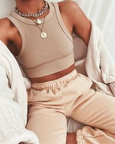 Cute Lazy Outfits, Trendy Outfits, Fall Outfits, Summer Outfits, Teen Fashion Outfits, Mode Outfits, Look Fashion, Modest Fashion, Korean Fashion