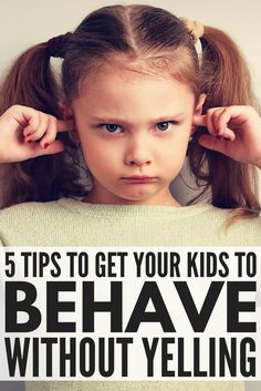 Learn how to get your kids to listen without yelling with these 5 simple tips that work! Parenting is not for the faint of heart, and figuring out how to get your kids to behave without yelling at them can sometimes feel impossible. But it's not! Whether you're a mom of toddlers (temper tantrum, anyone?!) or have older kids who are acting out at school, these simple yet practical parenting tips will teach you how to get your kids to listen...the first time!