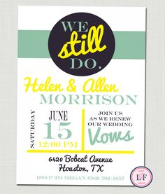 Invitations For A Wedding Renewal Vows Ceremony