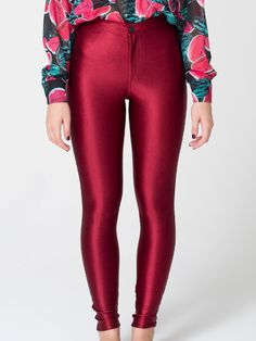 AMERICAN APPAREL | disco pants in RED