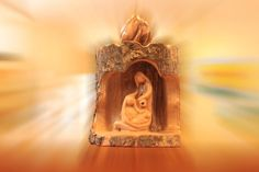 Holy Family sculpture by Jesusolivewood on Etsy, $56.00