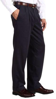 Dockers Pro Style Navy Blue Stretch Pleated Men's Pants Size 42 X 34 New #DOCKERS #DressPleat