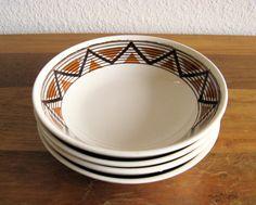 Ceramic Bowls-USA-Set of 4 by MarketHome on Etsy, $28.00
