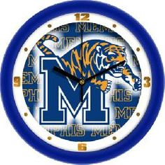 "Memphis Tigers 12"" Wall Clock - Dimension"