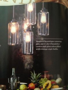 Love these lights with Edison bulbs!  West elm