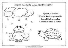 c'est la fête à la grenouille French Teacher, French Immersion, Teaching Resources, Curriculum, Kindergarten, Education, Comics, Illustration, School