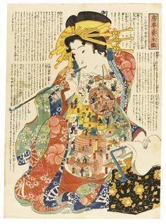 L'anatomie du corps humain en Kabuki dans des estampes japonaises