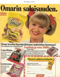 Herkku Karkki Toffee Pussi Omar Chymos 1983 Old Commercials, Good Old Times, Vintage Ads, Finland, Childhood Memories, Nostalgia, Pop, Retro, Life