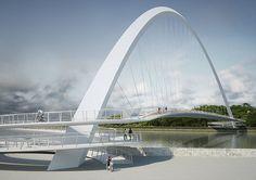 Bridges Architecture, Japan Architecture, Futuristic Architecture, Amazing Architecture, Landscape Architecture, Landscape Design, Architecture Design, Bridge Design, Pedestrian Bridge