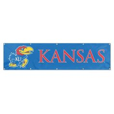 Kansas Jayhawks Applique & Embroidered Party Banner (96x24)
