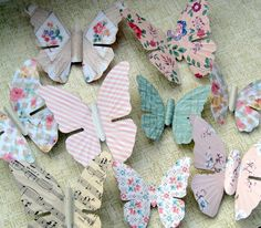 Vintage wallpaper butterflies by Mitzi Curi