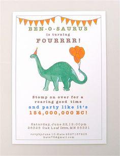 Triceratops Dinosaur Birthday Party Invitations Dinosaurs