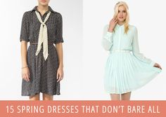 15 Pretty Spring Dresses That Won't Bare It All!