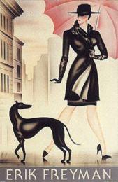 Ukeleles kennel Whippet: Whippets y galgos en el arte: Art Nouveau