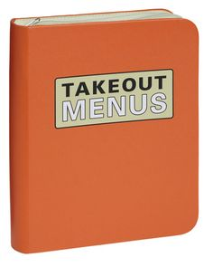 25 Rad Housewarming Gifts To Buy or DIY. Takeout Menus I've got to get one of these. Our takeout menus are stuffed in a file folder and it's always a bit of a mess when we're in a hurry. A fun takeout menu organizer. From Mod Cloth, (price not available).