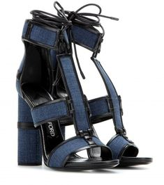 Love these Tom Ford Patchwork denim and leather sandals $1590, available here: rstyle.me/n/8p9yqmtu6