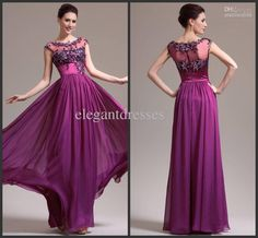 Wholesale Mother Bride - Buy New Arrival 2014 Attractive Illusion High Collar Cap Sleeve Beaded Floor Length Chiffon Mother of the Bride Dresses, $129.0   DHgate