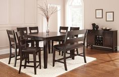 Victoria Pub Table Set with Bench