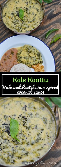 Kale Koottu | Vegan , Gluten Free Hearty and delicious Kale Kootu - Kale and Toor Dal in a spiced coconut gravy and some hot rice is all you need on a plate to comfort you!