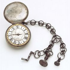 1650 French Pocket watch and chain at the National Maritime Museum, London