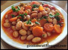 MALZEMELER 1 kg barbunya 4 adet orta boy domates 2 adet havuç 2 adet yeşil veya kırmızı (kapya) biber 1 orta boy kuru soğan ...