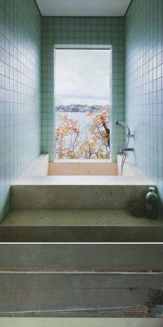 Green-bathroom-tiles-via Anne Sage