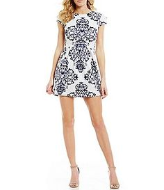 18fdfe5f B. Darlin Scroll Print Skater Dress Daytime Dresses, Casual Dresses, Junior  Dresses,
