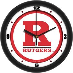 NCAA Rutgers Scarlet Knights Traditional Wall Clock