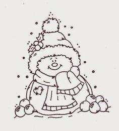 Lindas Imágenes de Muñecos de Nieve para Colorear.