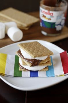 Nutella S'Mores - How did I not think of this on my own?