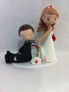 Casal de Noivos Enfermeira