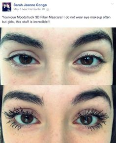 Before & After using Silk Oil of Morocco's Argan Fibre Lash ...