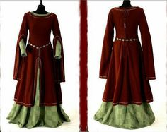 Medieval Dress- yes please! Medieval Dress, Medieval Costume, Medieval Fashion, Medieval Clothing, Gypsy Clothing, Medieval Life, Female Clothing, Historical Costume, Historical Clothing