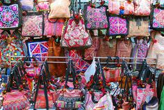 hill tribe embroidery at the sunday market, chiang mai by hopemeng, via Flickr