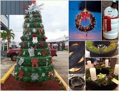 View These Fun Christmas Decor Ideas with Old Tires a
