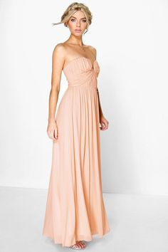 1626cf37b3 Boutique Mesh Rouched Plunge Maxi Dress